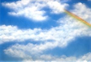 『虹を見つける』見れるのは顔を上げている人だけ。