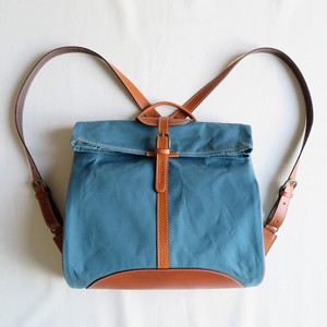 Paraffin canvas back pack「Escargot」 BLUE