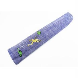 蛙刺繍 扇子袋 c-56-1803