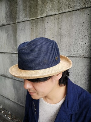 switch(Navy crown×Brown brim 6cm)