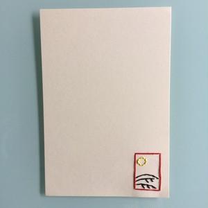 刺繍ポストカード(月にススキ)