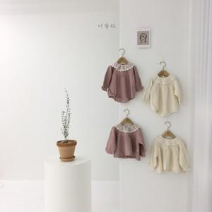 【新作予約】lace-collar body-suit【baby】