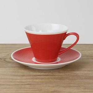 【SL-0004】 磁器 コーヒーソーサー 赤