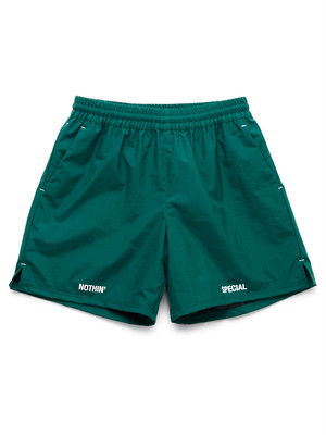 NOTHIN'SPECIAL / OUT OF NOTHING NYLON SHORTS -FOREST GREEN-