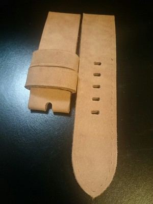 (Sold)Rita's@strap  ヌバックLeather 24mm natural(63)
