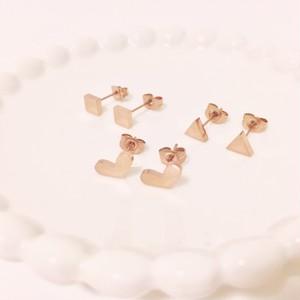 【サージカルスチール】シンプル♪幾何学ピアス【全3種】