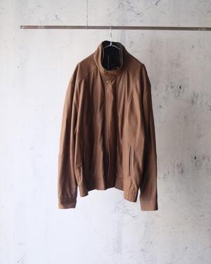 design leather brown jacket