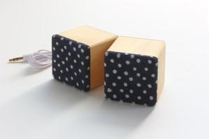 藍木スピーカー 檜 M-SP / iPhone、スマホ、タブレット用
