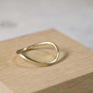 真鍮ウェーブプレーンリング 1.5mm幅 つや消し 3号~27号|WKS WAVE PLANE RING 1.5 bs matte|FA-525