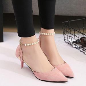 【shoes】パンプス可愛いスウィート人気履きやすい無地ファッション