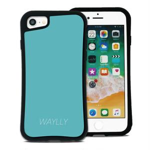 スモールロゴ ミントブルー セット WAYLLY(ウェイリー) iPhone 8 7 XR XS X 6s 6 Plus XsMax対応!_MK_