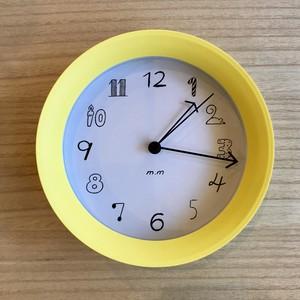 松尾ミユキ 2Way Clock Yellow