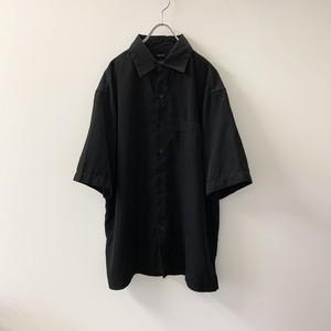 GEORGE ブラックシャツ フェイクスエード size XL メンズ 古着