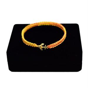 【無料ギフト包装/送料無料/限定/即納】K18 Gold Anchor Bracelet / Anklet Yellow【品番 17S2010】
