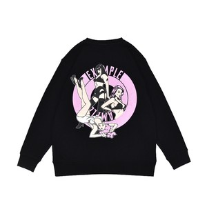 SEXY WOMEN'S ROUND CREW NECK / BLACK