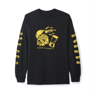 BUTTER GOODS ENEMY L/S TEE BLACK