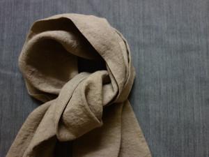 cravat scarf / antique mocha