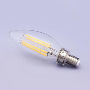 LEDフィラメント電球【4W/E12水雷型シャンデリア電球】