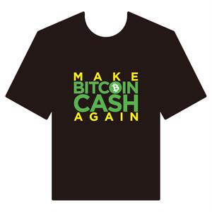 BitcoinCashTシャツ シリーズC 黒 COFA(C4-002)