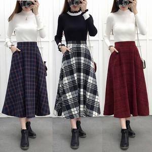 【ボトムス】秋冬コーデ必須着やせチェク柄スカート