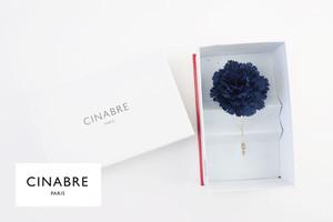 シナブル パリ|CINABRE PARIS|ブートニエール|フラワーラペルピン|ブローチ|コサージュ|ネイビー