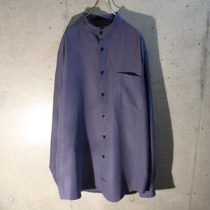 Poly Band Collar Shirt