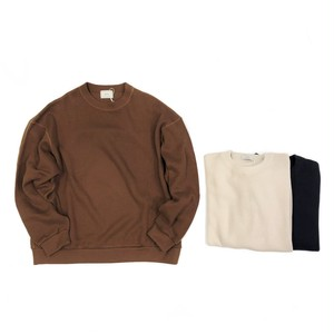 Every Condition Life . ex. LIVING CONCEPT 【エビコン】 CREW NECK COTTON KNIT & SEW