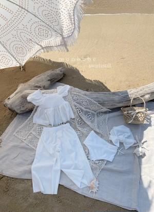 お得【予約販売】smoke swimsuit set + cool pants【mom】〈monbebe〉