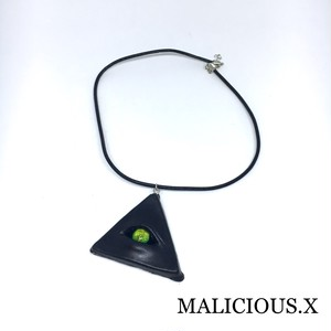 devil reptelis eye necklace / green(black)