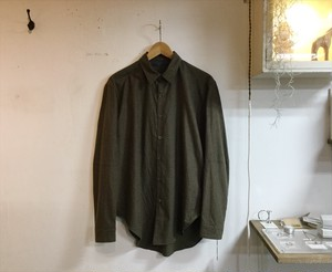 "semoh""switching shirt brown"""