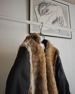 vintage liner jacket with fur