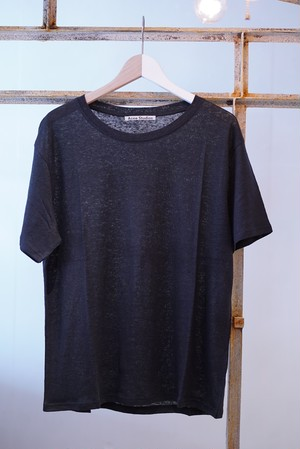 Acne Studios / LINEN T-SHIRTS (BLACK)