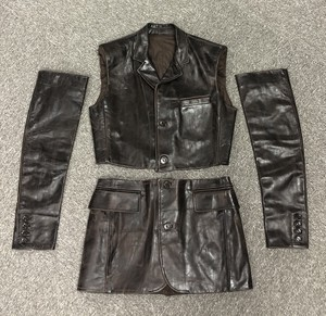 2000s JEAN PAUL GAULTIER LEATHER SEPARATED JACKET