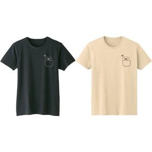 Tシャツ【ポケット犬】