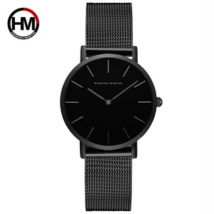 36ミリメートルニューグリーン顔ゴールドダイヤル日本クォーツムーブメントレディース腕時計ステンレス鋼メッシュ超薄型防水女性の腕時計CH36-WYH