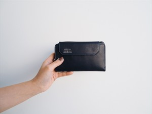AS2OV  LEATHER MOBILE WALLET #NAVY