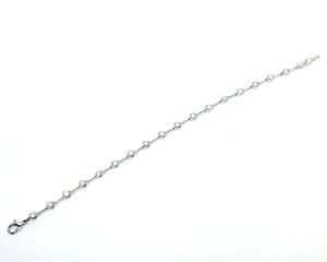 【仕上げ済み】 Pt850  ダイヤモンド ラインブレスレット