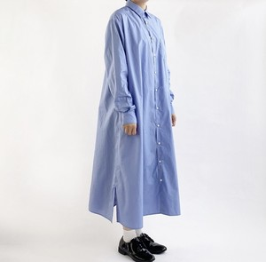 【HARVESTY】 SHIRTS ROBE BROAD CLOTH (BLUE) シャツ ワンピース  日本製 ハーベスティ