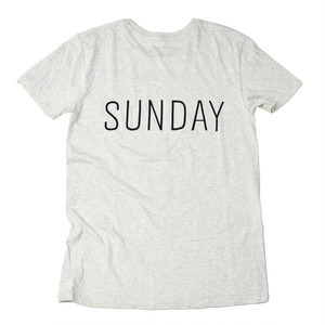 SUNDAY S/S COTTON TEE [Oatmeal]