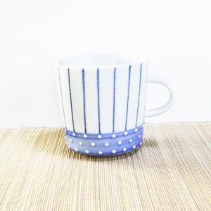 砥部焼 マグカップ (点線といっちん)