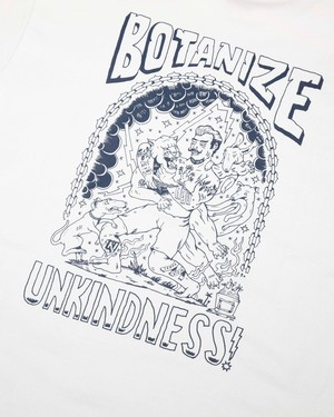 限定カラー ★BOTANIZE × UNKINDNESS コラボTシャツ★ 【白 1色】