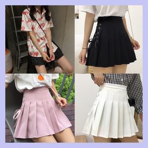 【選べる】 いちごマカロンシャツ+スカート 3色