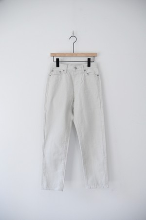 RESTOCK【ORDINARY FITS】5P ANKLE DENIM white/OM-P110OW