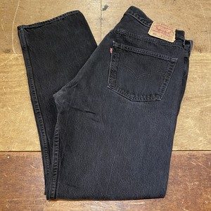 Levi's black denim made in usa 37インチ