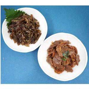◆ゆうパケット送料無料◆佃煮2種セット 畑のお肉とごま若布〔各300g2種×各1〕カネハツ・佃煮・メーカー直送・お弁当・おかず