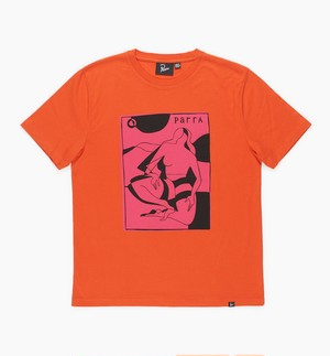 by Parra - t-shirt complicated beach scene - (Burnt Orange)