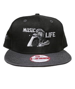 "Roro embroidered ""MUSIC LIFE"" Snap Back (Limited Edition)"