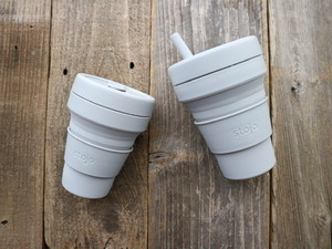 Reusable Silicone Cup 'stojo'  ストージョ 持ち運べるカップ POCKET CUP 355ml