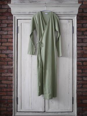 Baserange /  CLETA DRESS WITH SLEEVES ( ERO GREEN  )