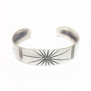 "North Works ""Stamped 900Silver Cuff Bracelet Sun"""